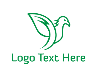 Dove - Leaf Parrot  logo design
