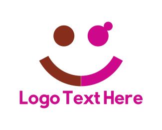 Emoji - Happy Couple logo design