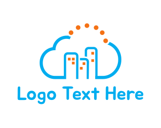 Hosting - Cloud City logo design