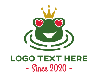 Pond - Love Frog logo design