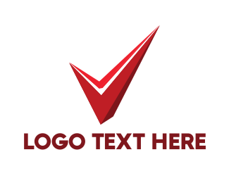 Identification - Red Abstract Check logo design