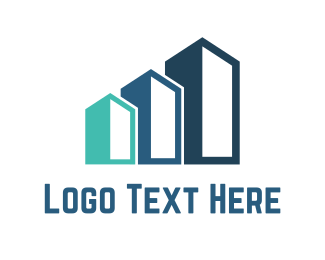 Statistics - Three Buildings logo design