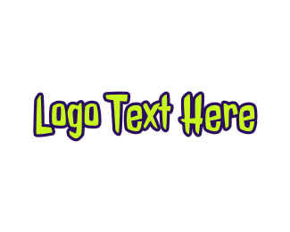 Teenager - Zombie Text logo design