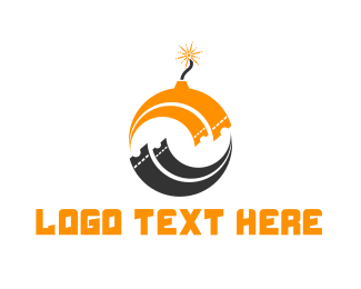 Bomb - Ticket Bomb logo design