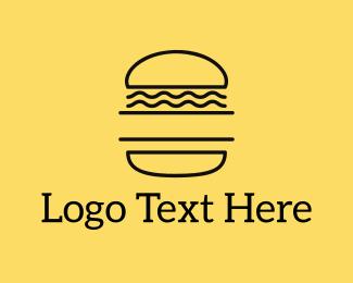 Sandwich - Minimalist Burger logo design