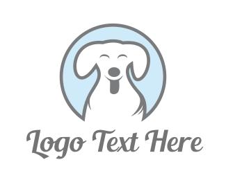 Dog Walker - Happy Dog logo design