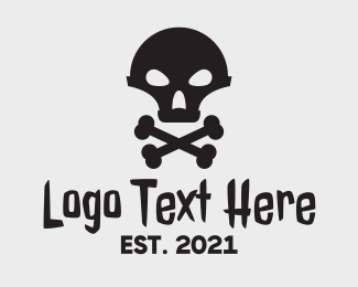 Danger - Alien Skull & Crossbones logo design