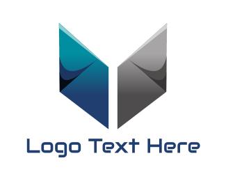 College - Metallic Book logo design