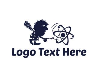 Atom - Primitive Science logo design