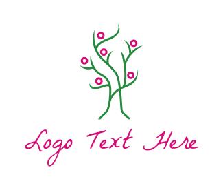 Dainty - Pink Green Tree logo design