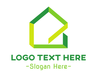 Tree House - Green Ribbon House logo design