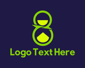 Number 8 - Green Number Eight logo design