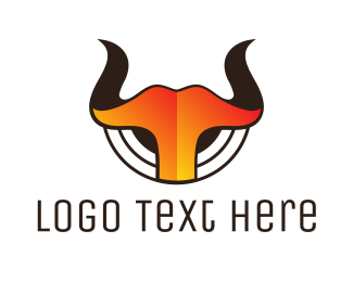 Horns - Gradient Hot Horns logo design