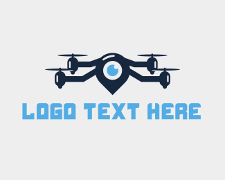 Map - Blue Locator Drone logo design