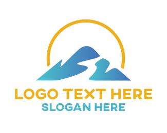 Summer - Mountain Stream logo design