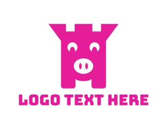 Save - Piggy Bank logo design