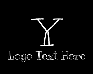 School - Handwritten Letter Y logo design