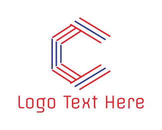 Linear - Stripe Hexa C logo design