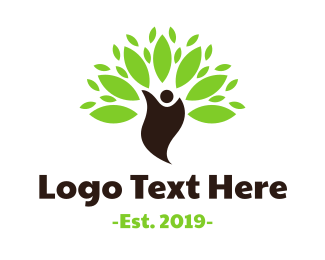 Yoga - Green Environmentalist logo design