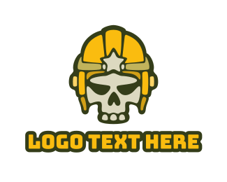 Crypt - Skull Star Helmet  logo design