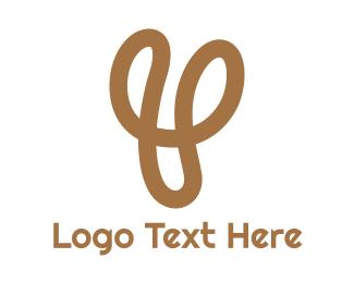 Quality - Gold Y Stroke logo design