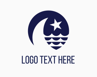 Sailing - Blue Moon & Star logo design