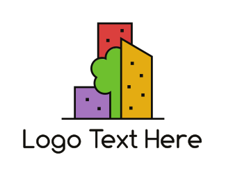 Build - Green City logo design