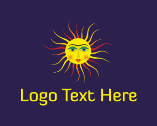Sun - Sun Face logo design