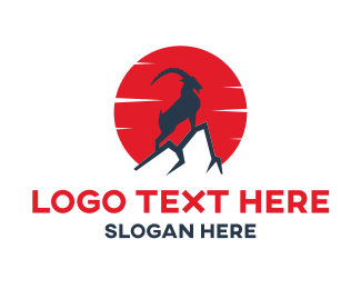 Mountain - Mountain Goat logo design