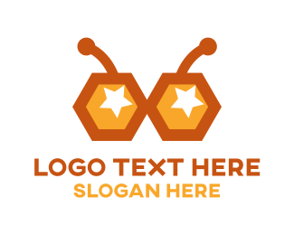 Honeybee - Bee Glasses logo design