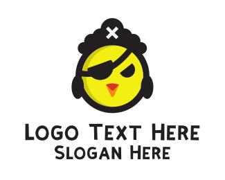 Captain - Pirate Chicken logo design