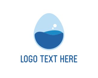 Egg Lab Bubble logo design