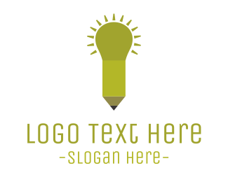 Student - Pencil Light  logo design