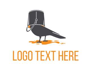 Fun - Bird Paint logo design