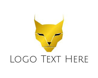 Bobcat - Golden Lynx logo design