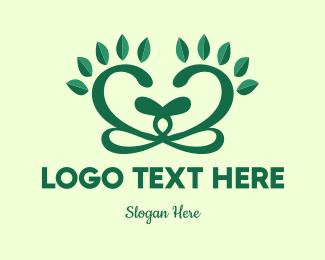 Pedicure - Floral Heart logo design