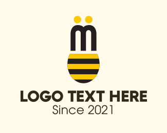 Honey - Bee Wings logo design