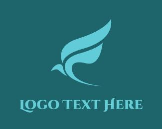 Freedom - Bird Leaf logo design