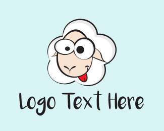 Lamb - Crazy Sheep logo design