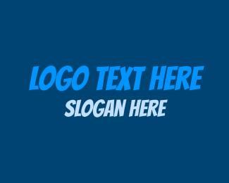 Teenager - Comic Blue logo design