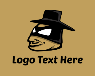 Mask - Zorro Cartoon logo design