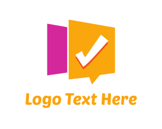 List - Checked Message logo design