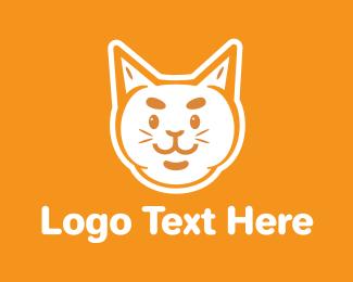 Grooming - White Cat  logo design
