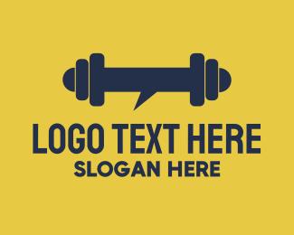 Bodybuilder -  Heavy Chat logo design