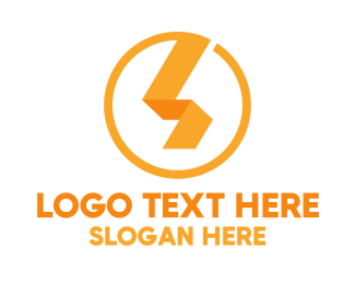 Beam - Lightning Ribbon logo design