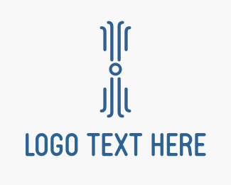 Code - Digital Blue Octopus logo design