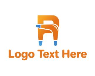 Letter A - Boomerang Letter logo design
