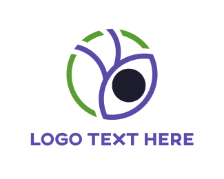 Visual - Purple Eye logo design