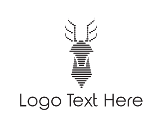 Deer - Black Deer logo design