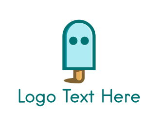 Lollipop - Ghost Popsicle logo design